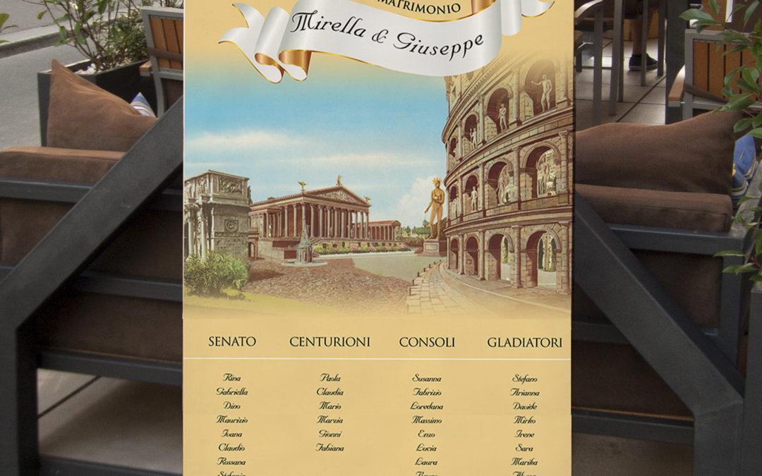 Tableau 50 anni di matrimonio – tema Antica Roma