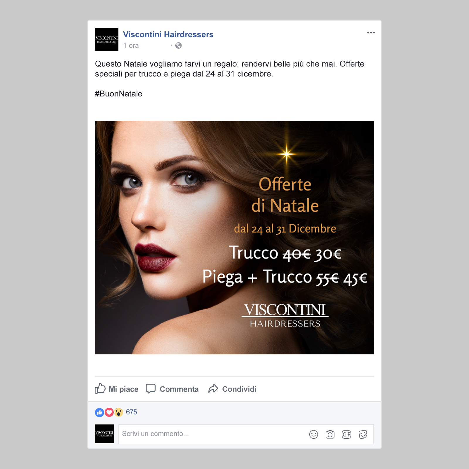 Locandina Facebook Viscontini Hairdressers
